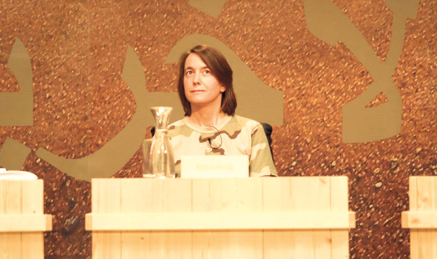 Katrin Passig in Klagenfurt beim Wettlesen um den Ingeborg-Bachmann-Preis