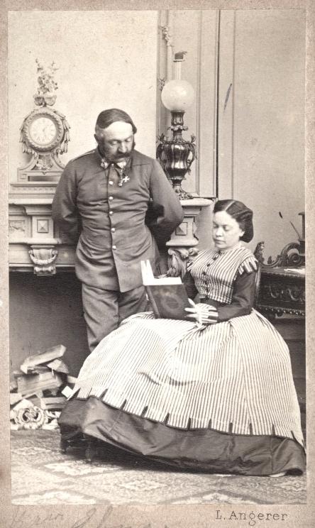 Marie von Ebner-Eschenbach mit ihrem Cousin und Ehemann Cousin Moritz von Ebner-Eschenbach