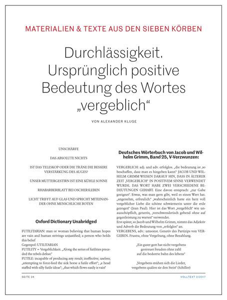 Alexander Kluge: Durchlässigkeit