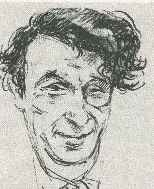 Anton Kuh, 1926, Zeichnung von Emil Orlik