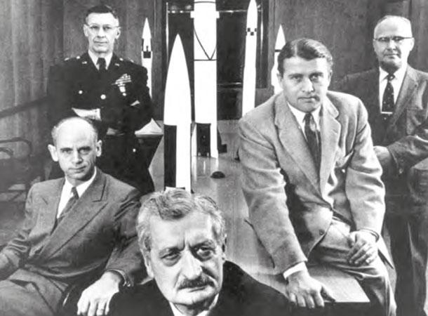 Hermann Oberth, Wernher von Braun © U.S.Army