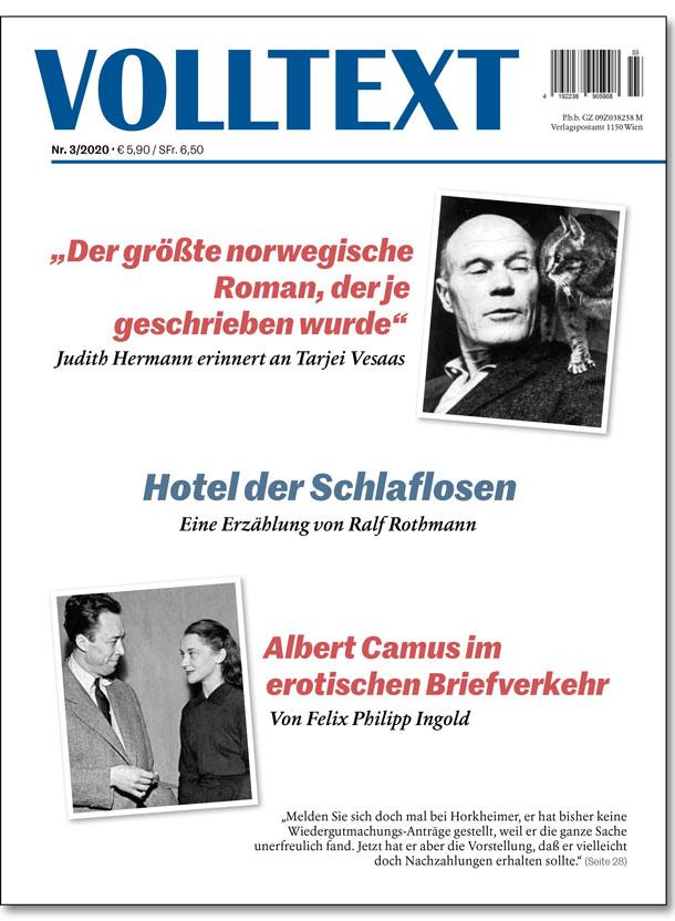 VOLLTEXT 3/2020 - Titelseite - Cover