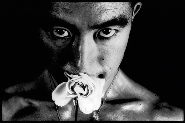 "Yukio Mishima © Eikoh Hosoe ""Ba-ra-kei: Ordeal by Roses""."